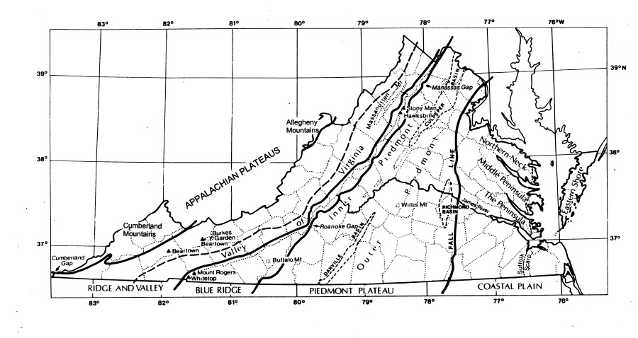 Overview Of Physiography Vegetation Of VA - Frost line map us