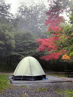 thumbnail picture of campsite at Grayson Highlands State Park.