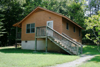 Two-bedroom cabin at Smith Mountain Lake State Park.