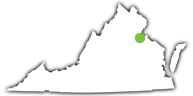 Location of Caledon State Park in Virginia