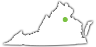 Location of Lake Anna State Park in Virginia