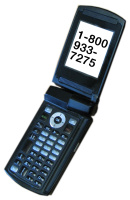 Image of phone with 1-800-933-7275 displayed.