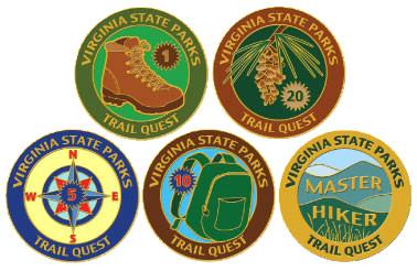 Trail Quest pins
