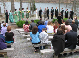 Wedding at Douthat State Park.